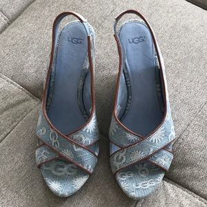 UGG Shoes - Ugg Denim Wedge Size 8.5